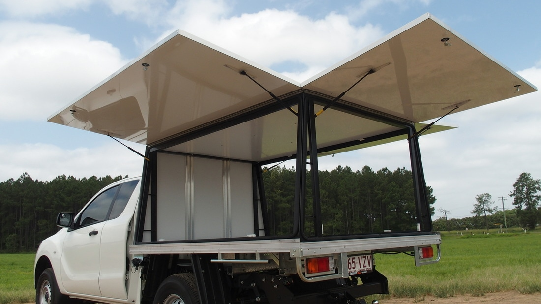 OTS CANOPIES - FITTED TO EXISTING TRAY & 4x4 Strong u0026 Lightweight Steel u0026 Alupanel Constructed Canopies ...
